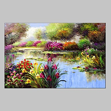 Hand-Painted Landscape Horizontal, Modern European Style Canvas Oil Painting Home Decoration One Panel