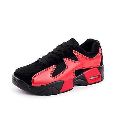 Sneakers-Stof-Komfort-Unisex-Rød Hvid Guld-Fritid-Flad hæl