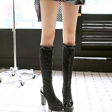 Cuir Synthétique Gladiateur Nouveauté Hiver Talon Chaussures 05267824 Similicuir Chaussures Bottes Rollers Automne Marche Femme Verni Eq05Tx5w8