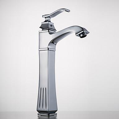 Antikk Centersat Wide spary with  Keramisk Ventil Enkelt Håndtak Et Hull for  Krom , Bathroom sink tappekran