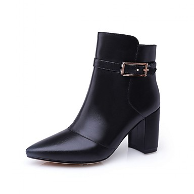 Women's Shoes Cowhide Leatherette Leather Spring Fall Winter Bootie Motorcycle Boots Fashion Boots Riding Boots Snow Boots Cowboy /