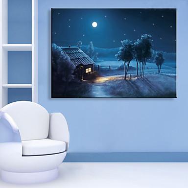LED Kanvas Sanat Manzara Tek Panelli Dikey Duvar Dekor Ev dekorasyonu