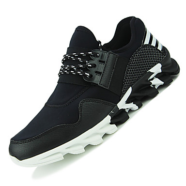 Sneakers-Tyl-Komfort-Unisex-Sort Hvid-Udendørs Fritid Sport-Lav hæl