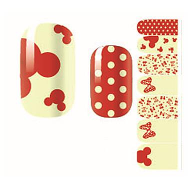 Mode dejlig prik bue negle decal kunst klistermærke gel polish manicure smukke pige