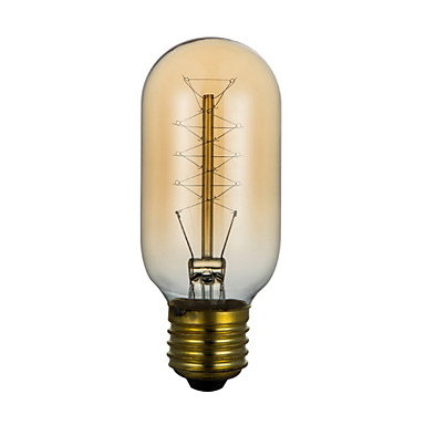 BriLight 1pc 40W E27 E26/E27 T45 Warm White 2300 K Incandescent Vintage Edison Light Bulb AC 220V AC 110-130V AC 220-240V V