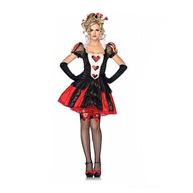 Prinses Sprookje Queen Cosplay Kostuums Gemaskerd Bal Feestkostuum Dames Halloween Festival / Feestdagen Halloweenkostuums Patchwork