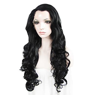 Pruik Lace Front Synthetisch Haar Golvend Synthetisch haar Natuurlijke haarlijn Pruik Dames Lang Kanten Voorkant