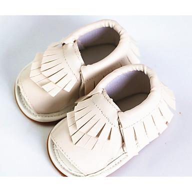 Unisex Sko PU Sommer Sandaler Flade hæle for Afslappet Hvid