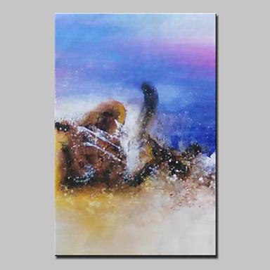 Handgeschilderde Abstract / Abstracte landschappen Olie schilderijen,Modern Eén paneel Canvas Hang-geschilderd olieverfschilderij For