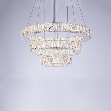 Sirkelformet Lysekroner Nedlys galvanisert Metall Krystall, LED 110-120V / 220-240V Varm Hvit / Kald Hvit LED lyskilde inkludert / Integrert LED