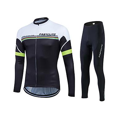 Fastcute Calça com Camisa para Ciclismo Homens Mulheres Unisexo Manga Longa Moto Calças Moletom Camisa/Roupas Para Esporte Meia-calça