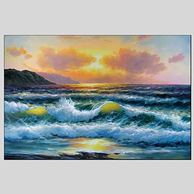 Hang malte oljemaleri Håndmalte - Landskap Klassisk Europeisk Stil Moderne Lerret