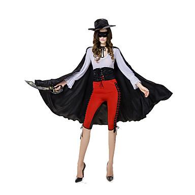 Cosplay Kostumer / Festkostume Film & TV Kostumer Festival/Højtider Halloween Kostumer Rød / Hvid / Sort EnsfarvetTop / Bukser / Hatte /