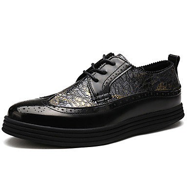 Hombre Bullock Zapatos Cuero Patentado Primavera / Verano / Otoño Confort Oxfords Negro