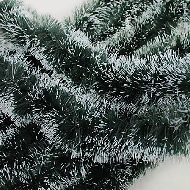 Christmas Gifts Decoration Green White Ribbon Garland Tops