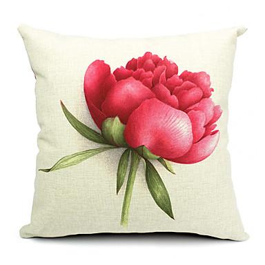 1 pcs Algodão/Linho Fronha / Almofada de Corpo / almofada do sofá,Floral Moderno/Contemporâneo