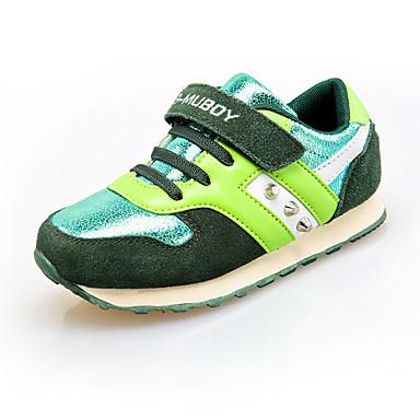 Sneakers-PU-Komfort-Drenge-Blå Grøn Rosa-Fritid-Flad hæl
