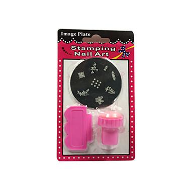 Stamper & Scraper Nail Smykker Dekorasjonssett Nail Stamping Template Daglig Mote Høy kvalitet