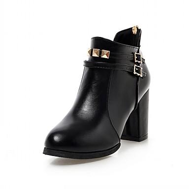 Støvler-laklæder Kunstlæder-Ridestøvler Modestøvler Komfort Originale Cowboystøvler Snowboots Basispumps-Damer--Bryllup Udendørs Kontor