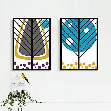 Kehystetty kanvaasi Kehystetty setti Kukkakuvio/Kasvitiede Fantasy Wall Art, PVC materiaali Frame Kodinsisustus Frame Art Olohuone