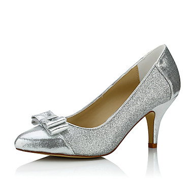 Damen Schuhe Glanz Frühling / Sommer Komfort High Heels Stöckelabsatz Silber / Hochzeit / Party & Festivität