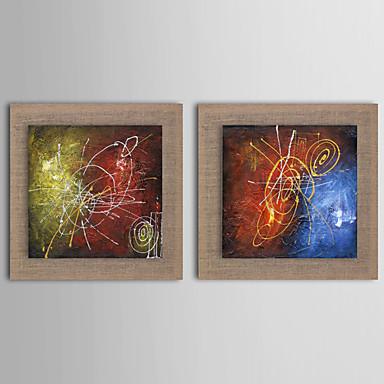 Handgeschilderde Abstract Landschap Stilleven Fantasie Vierkant, Europese Stijl Modern Realisme Kangas Hang-geschilderd olieverfschilderij