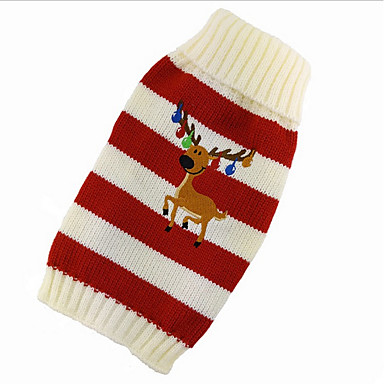 Kat Hund Bluser Hundetøj Sødt Jul Rensdyr Rød Grøn Kostume For kæledyr