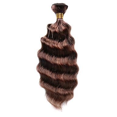 1 paquete Cabello Hindú Ondulado Medio Cabello humano cabello con reflejos Cabello humano teje Extensiones de cabello humano