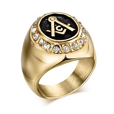 Herre Statement Ring - Personalisert / Vintage / Mote Gull Ringe Til Julegaver / Daglig / Avslappet