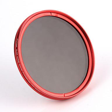 fotga® 62mm camera fader variabele grijsfilter neutrale dichtheid ND2 ND8 tot ND400 rood