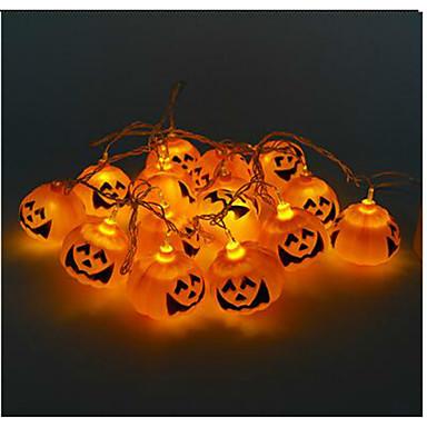 Halloween Græskar Streng Spøgelse Forlygter LED Lys Bar 16 Lampeholder