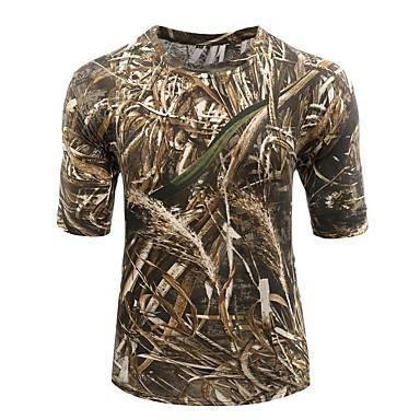 Jagt T-shirt m. camouflagemønster Unisex Anti-statisk Åndbart Begrænser bakterier camouflage T-Shirt Toppe Kortærmet for Campering &