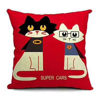 1 pcs Algodão/Linho Fronha / Almofada de Corpo / almofada do sofá,Estampado Animal Moderno/Contemporâneo / Casual
