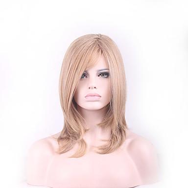 Synteettiset hiukset Peruukit Laineita Suojuksettomat Luonnollinen peruukki Vaaleahiuksisuus