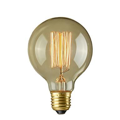 1pc 40G E27 E26/E27 E26 G95 Sıcak Beyaz 2300 K Incandescent Vintage Edison Ampul AC 110-220 AC 110-130V AC 220-240V V