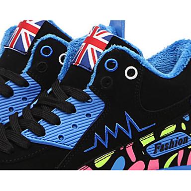 PU Plano Rosa deporte 05357410 Confort de Azul Verde Zapatos Zapatillas Con Cordón Dedo redondo Otoño Mujer Tacón Primavera aq0f5wqz