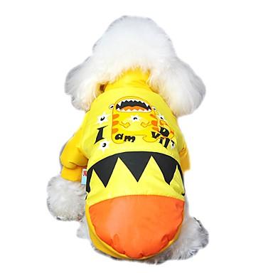 katten honden Jassen Hoodies Hondenkleding Winter Lente/Herfst Cartoon Schattig Houd Warm Grijs Geel Roos Groen