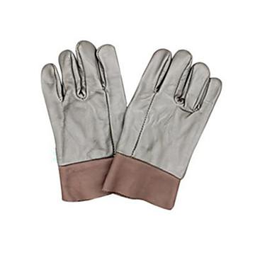 diepe kleur korte volle huid 144 # beschermende lassen handschoenen 2 paar verpakt voor de verkoop