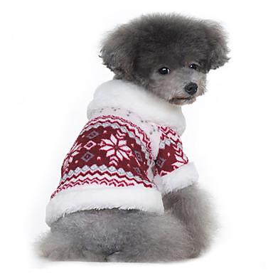 Cane Cappottini Maglioni Abbigliamento per cani Fiocco di neve Nero Rosso  Cotone Costume Per animali domestici 8983195453e4