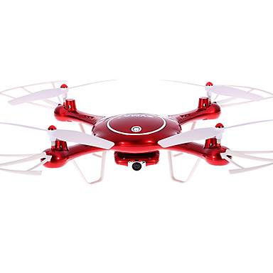 billige Fjernstyrte quadcoptere og multirotorer-RC Drone SYMA X5UW 4 Kanaler 6 Akse 2.4G 720P Fjernstyrt quadkopter LED Lys / En Tast For Retur / Auto-Takeoff Fjernstyrt Quadkopter / Fjernkontroll / Kamera / Hodeløs Modus / Sveve / Hodeløs Modus