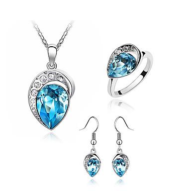Sieraden Kettingen / Oorbellen / Ringen Sieraden Set Kristal Modieus Dagelijks 1 Set Dames Roos / Marineblauw Giften van het Huwelijk
