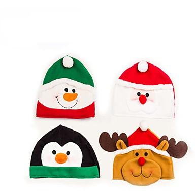 1kpl tonttulakki lumiukko / hirvi / joulupukki koriste tarvikkeita JUHLATARVIKKEIDEN juhla toimitukset (random väri)