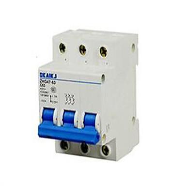 baixa - tensão aparelhos eléctricos de circuito disjuntor dz47-63c63 3p interruptor do ar pequena