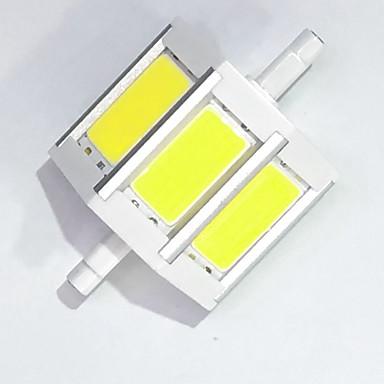 450 lm R7S Lâmpadas Espiga T cob LED leds COB Decorativa Branco Quente Branco Frio AC 85-265V