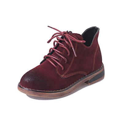 女の子 靴 PUレザー 秋 / 冬 コンフォートシューズ / スノーブーツ ブーツ ウォーキング 編み上げ のために ブラック / レッド / ダークグリーン