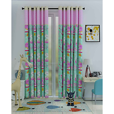 Eén paneel Window Behandeling Designer , Cartoon Woonkamer Polyester Materiaal Curtains Drapes Huisdecoratie For Venster