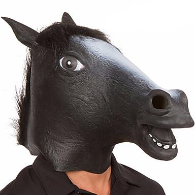 Haloween-masker Dyremaske Hestehode Horrortema Lasteks Gummi Original 1pcs Deler Unisex Voksne Gave