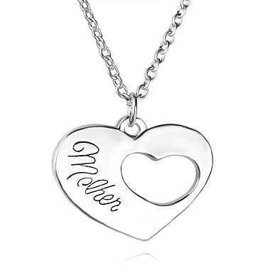 Hombre / Mujer Collares con colgantes - Corazón Diseño Único, inicial Plata Gargantillas Para Fiesta, Gracias, Diario