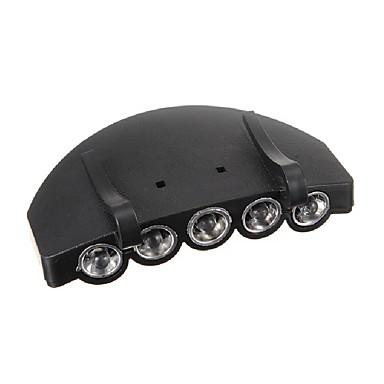 5 LED foranlys hodelykt lommelykt cap lue lommelykt lampe utendørs fiske camping jakt clip-on super lyse