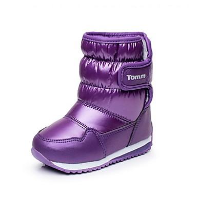 Para Meninas Sapatos Sintético / Courino Inverno Conforto / Botas de Neve Botas Caminhada Velcro para Preto / Roxo / Fúcsia